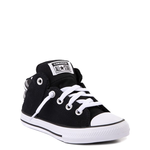 alternate view Converse Chuck Taylor All Star Axel Mid Sneaker - Little Kid / Big Kid - Black / Gray CamoALT5