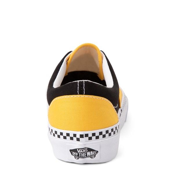 alternate view Vans Era Checkerboard Skate Shoe - Little Kid - Spectra Yellow / BlackALT4