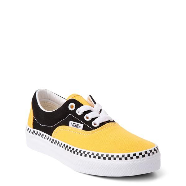 alternate view Vans Era Checkerboard Skate Shoe - Little Kid - Spectra Yellow / BlackALT5