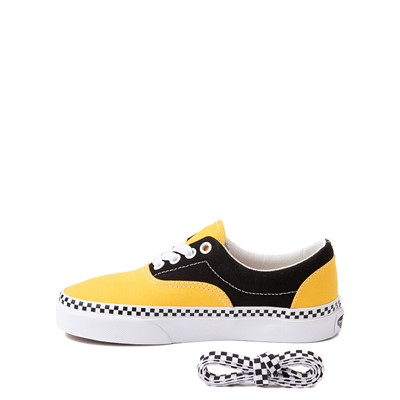 Alternate view of Vans Era Checkerboard Skate Shoe - Little Kid - Spectra Yellow / Black