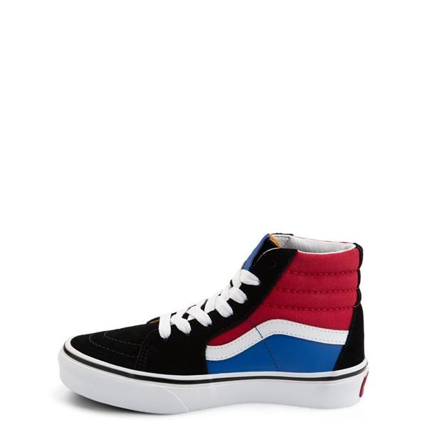 alternate view Vans Sk8 Hi Easy Logo Skate Shoe - Little Kid - Black / Chili PepperALT1