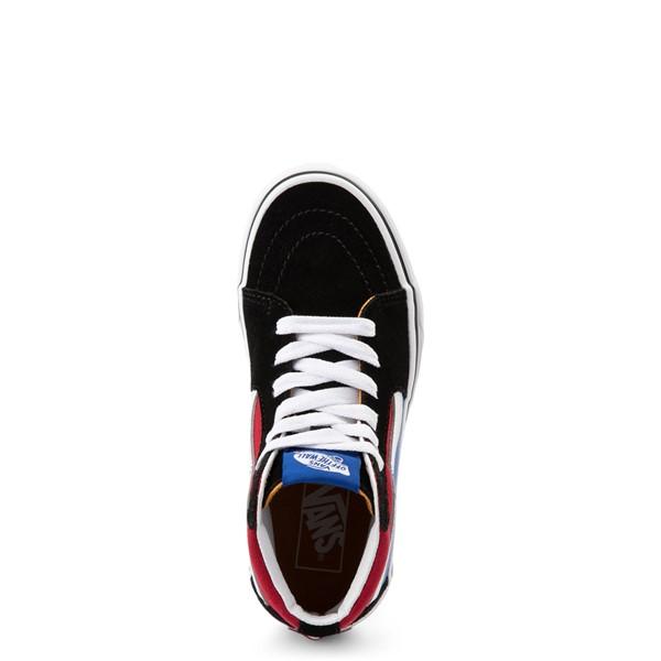 alternate view Vans Sk8 Hi Easy Logo Skate Shoe - Little Kid - Black / Chili PepperALT2