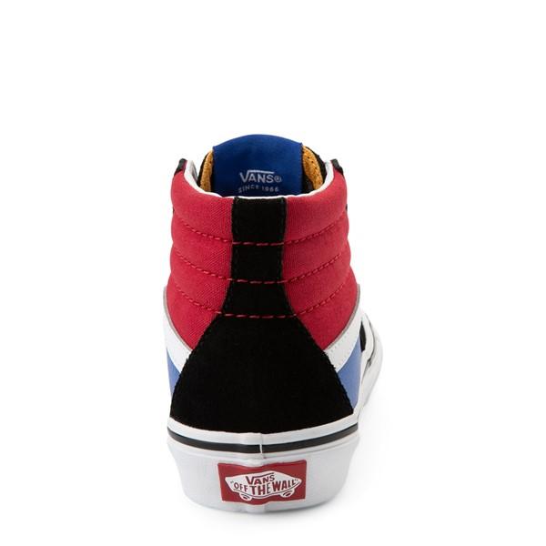 alternate view Vans Sk8 Hi Easy Logo Skate Shoe - Little Kid - Black / Chili PepperALT4