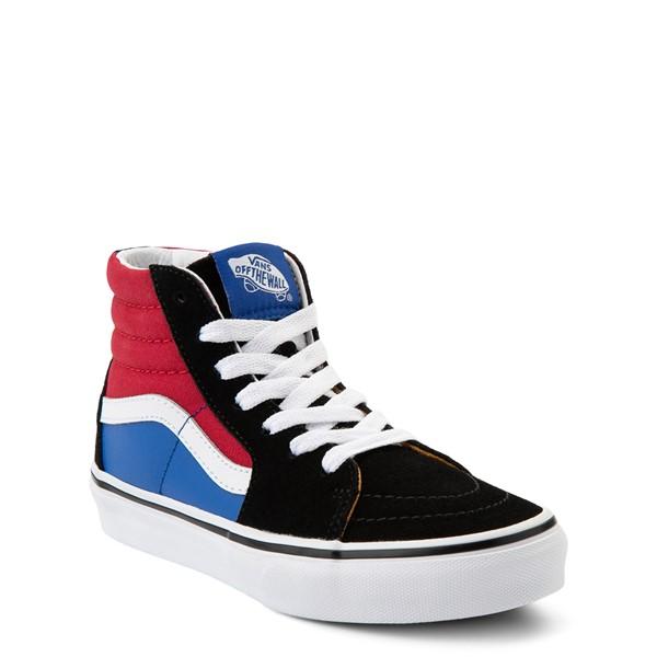 alternate view Vans Sk8 Hi Easy Logo Skate Shoe - Little Kid - Black / Chili PepperALT5