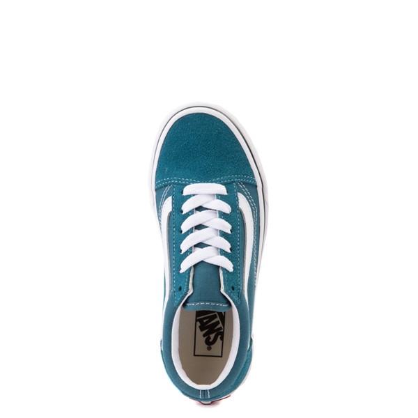 alternate view Vans Old Skool Skate Shoe - Little Kid - Blue CoralALT2