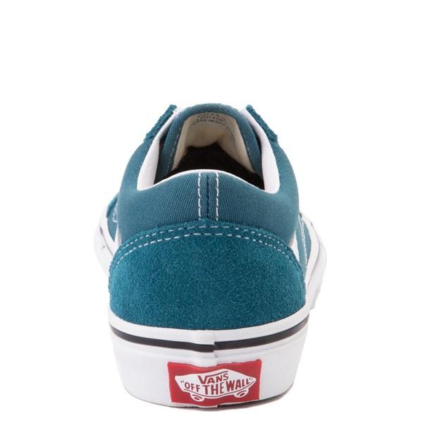 alternate view Vans Old Skool Skate Shoe - Little Kid - Blue CoralALT4
