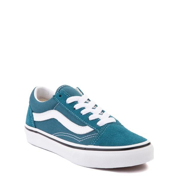 alternate view Vans Old Skool Skate Shoe - Little Kid - Blue CoralALT5
