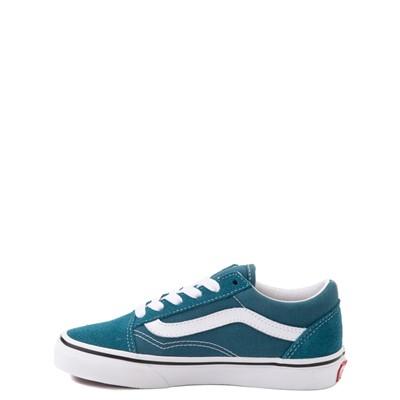 Alternate view of Vans Old Skool Skate Shoe - Little Kid - Blue Coral
