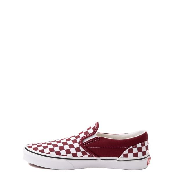 alternate view Vans Slip On Checkerboard Skate Shoe - Little Kid - PomegranateALT1