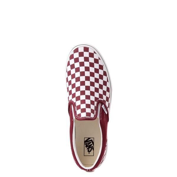 alternate view Vans Slip On Checkerboard Skate Shoe - Little Kid - PomegranateALT2