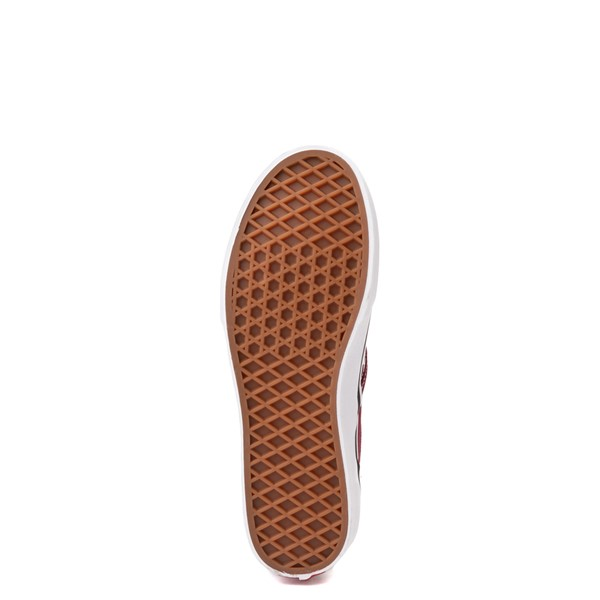 alternate view Vans Slip On Checkerboard Skate Shoe - Big Kid - PomegranateALT3