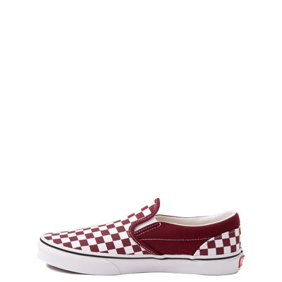 Alternate view of Vans Slip On Checkerboard Skate Shoe - Big Kid - Pomegranate