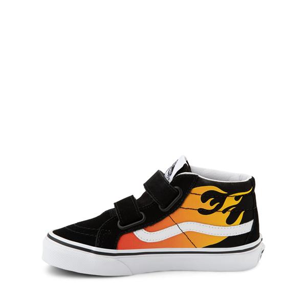 alternate view Vans Sk8 Mid Reissue V Hot Flame Skate Shoe - Little Kid - BlackALT1