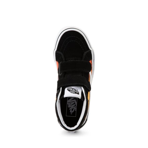alternate view Vans Sk8 Mid Reissue V Hot Flame Skate Shoe - Little Kid - BlackALT2