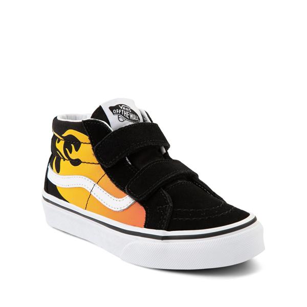 alternate view Vans Sk8 Mid Reissue V Hot Flame Skate Shoe - Little Kid - BlackALT5