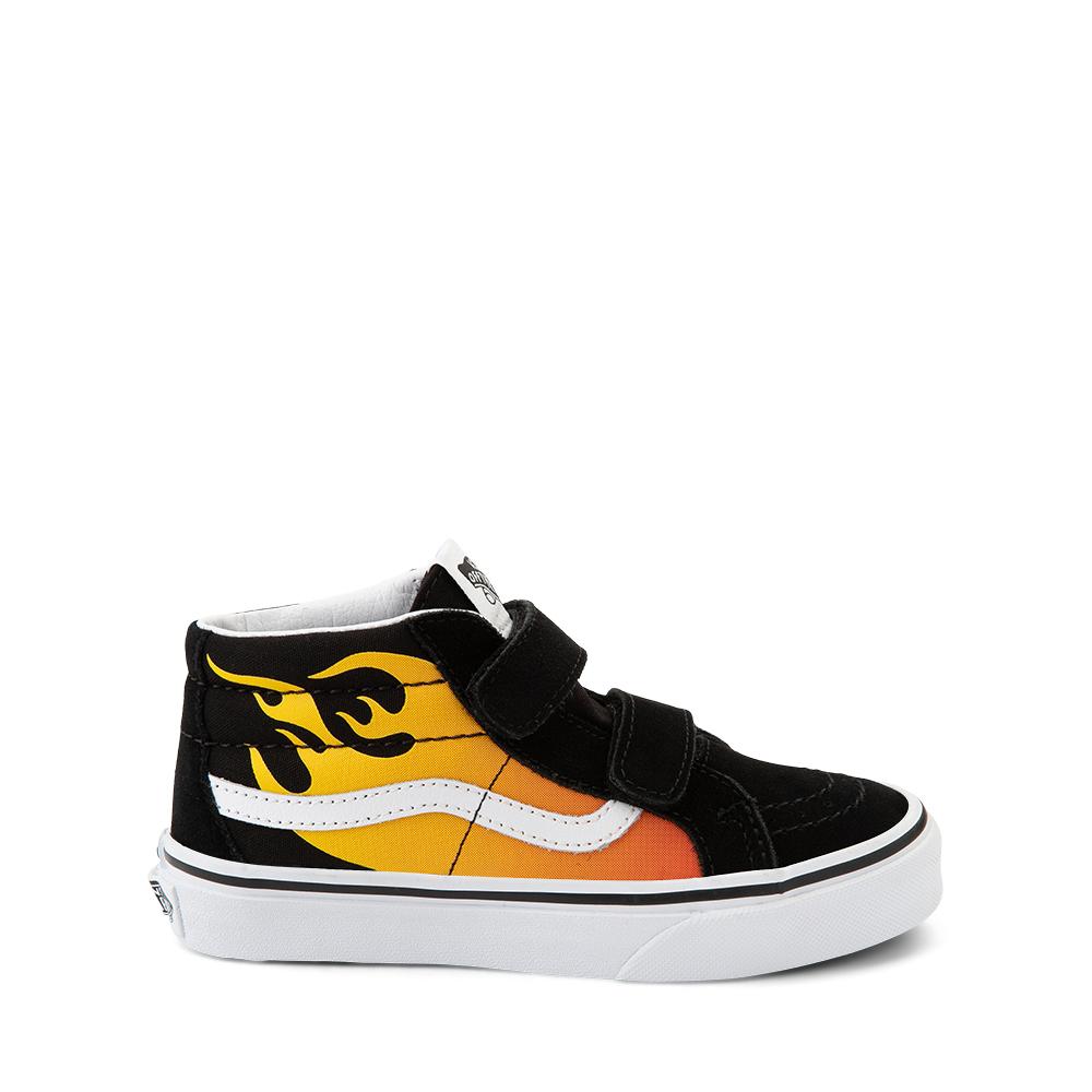 Vans Sk8 Mid Reissue V Hot Flame Skate Shoe - Little Kid - Black