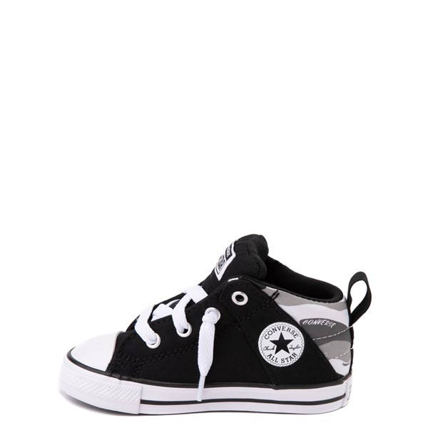 alternate view Converse Chuck Taylor All Star Axel Mid Sneaker - Baby / Toddler - Black / Gray CamoALT1