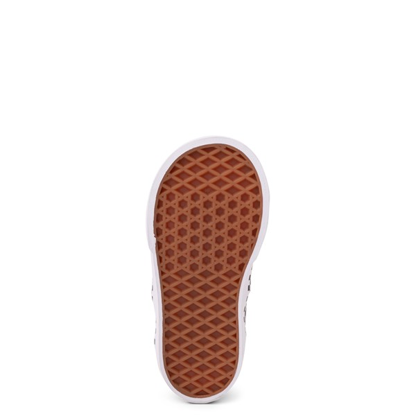 alternate view Vans Era Checkerboard Skate Shoe - Baby / Toddler - Spectra Yellow / BlackALT3