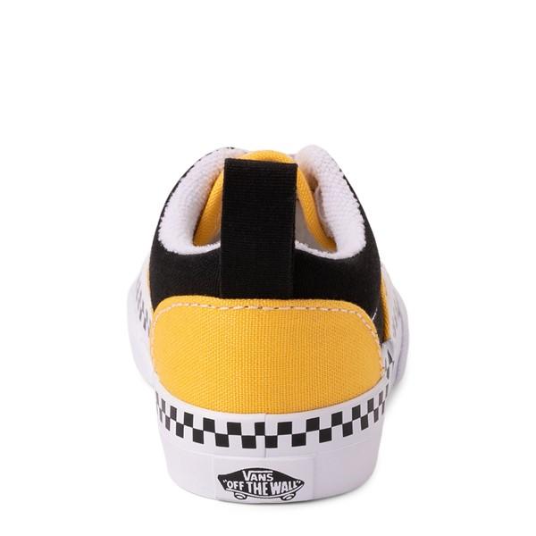 alternate view Vans Era Checkerboard Skate Shoe - Baby / Toddler - Spectra Yellow / BlackALT4