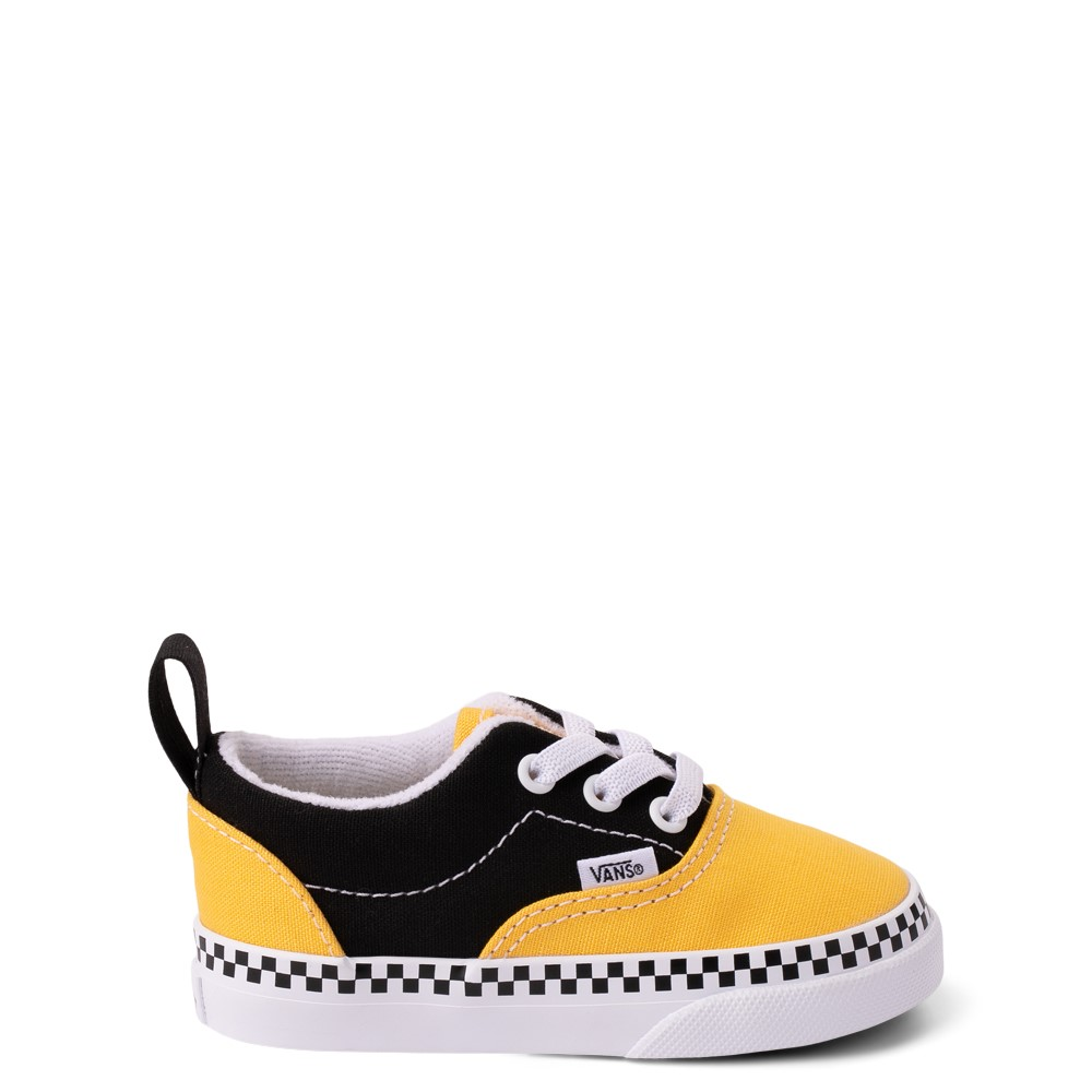 Vans Era Checkerboard Skate Shoe - Baby / Toddler - Spectra Yellow / Black