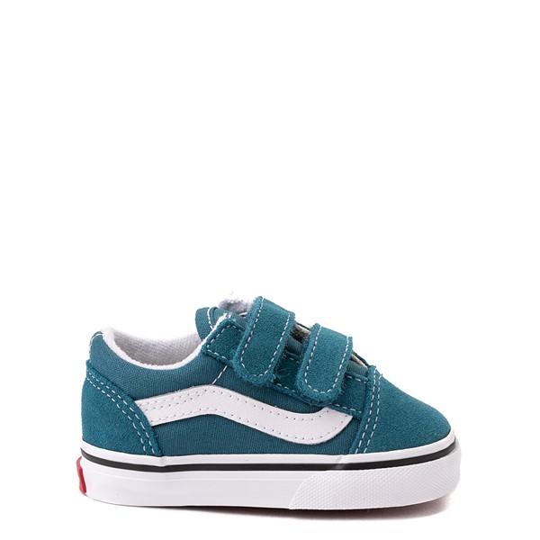 Vans Old Skool V Skate Shoe - Baby / Toddler - Blue Coral