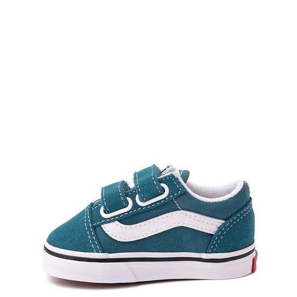 alternate view Vans Old Skool V Skate Shoe - Baby / Toddler - Blue CoralALT1
