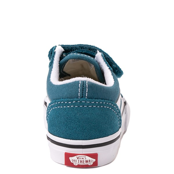 alternate view Vans Old Skool V Skate Shoe - Baby / Toddler - Blue CoralALT4