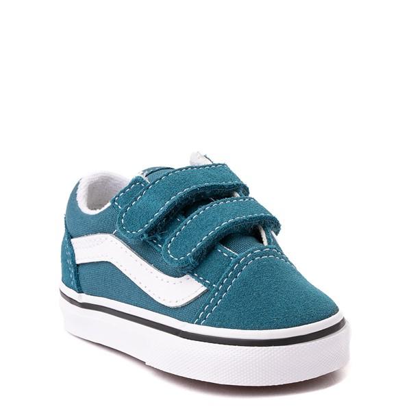 alternate view Vans Old Skool V Skate Shoe - Baby / Toddler - Blue CoralALT5