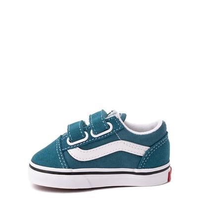 Alternate view of Vans Old Skool V Skate Shoe - Baby / Toddler - Blue Coral