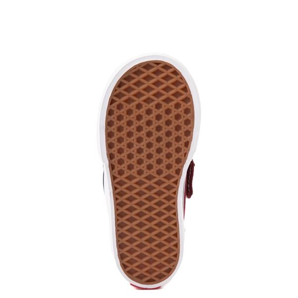 alternate view Vans Slip On V Checkerboard Skate Shoe - Baby / Toddler - PomegranateALT3