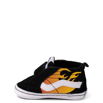 Alternate view of Vans Sk8 Mid Reissue V Hot Flame Skate Shoe - Baby - Black