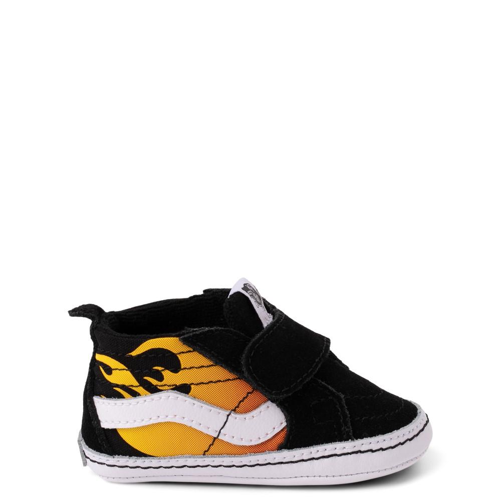 Vans Sk8 Mid Reissue V Hot Flame Skate Shoe - Baby - Black