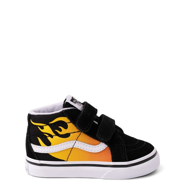 Vans Sk8 Mid Reissue V Hot Flame Skate Shoe - Baby / Toddler - Black