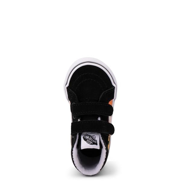 alternate view Vans Sk8 Mid Reissue V Hot Flame Skate Shoe - Baby / Toddler - BlackALT2