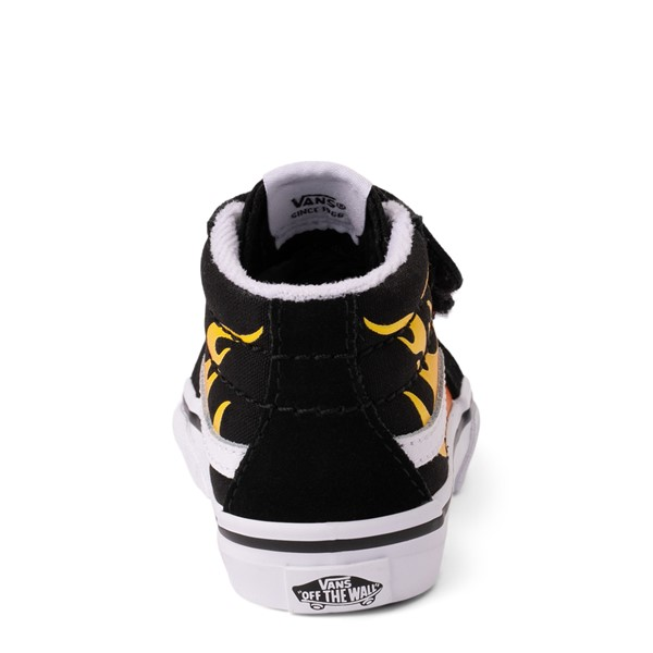 alternate view Vans Sk8 Mid Reissue V Hot Flame Skate Shoe - Baby / Toddler - BlackALT4