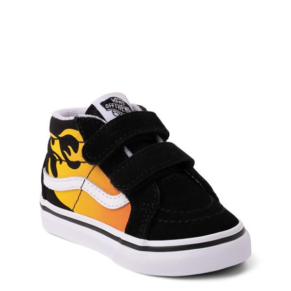alternate view Vans Sk8 Mid Reissue V Hot Flame Skate Shoe - Baby / Toddler - BlackALT5