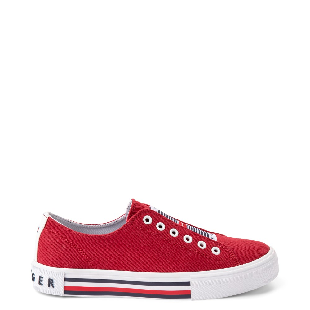 Womens Tommy Hilfiger Hopz 2 Slip On Casual Shoe - Red