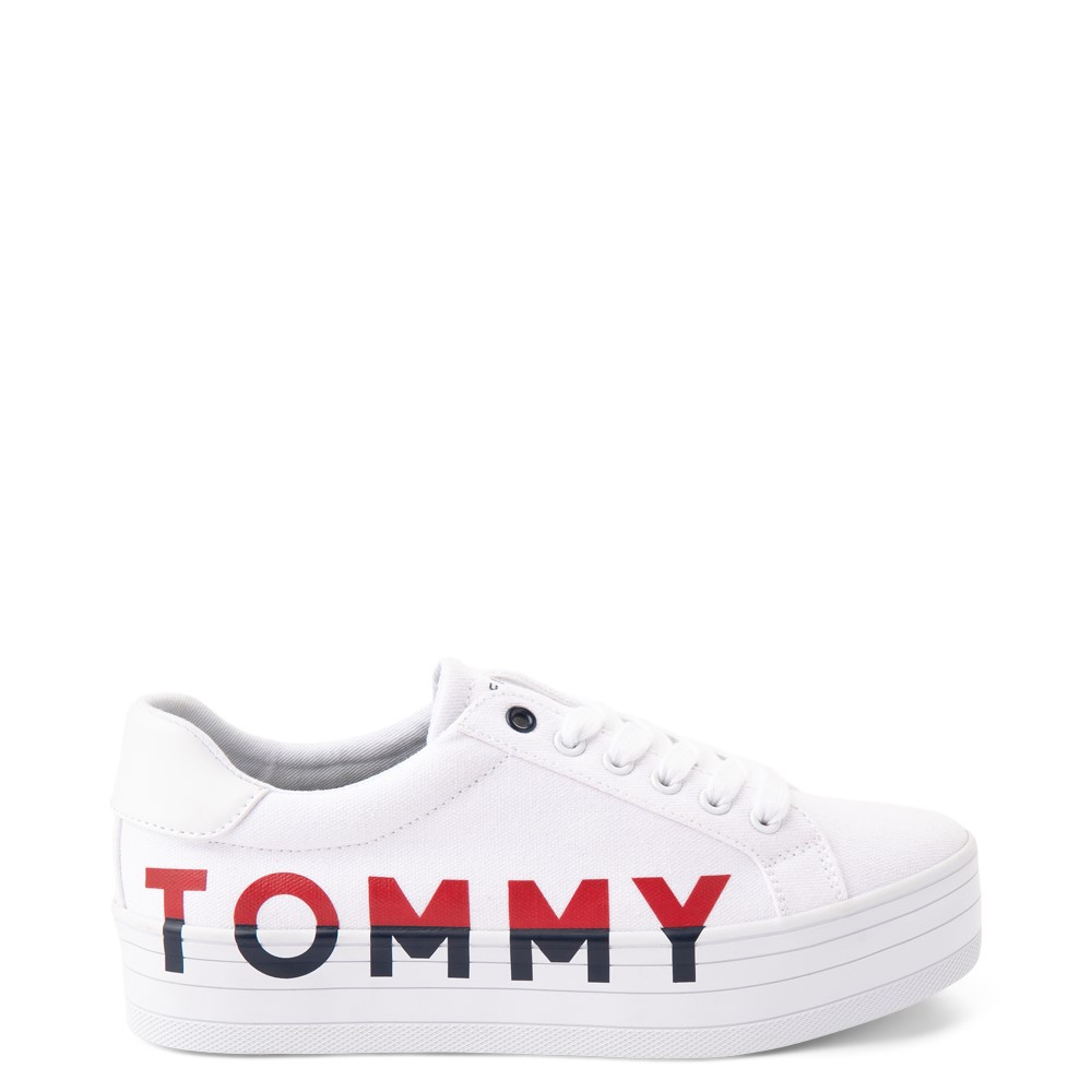 Womens Tommy Hilfiger Blasee Platform Casual Shoe - White