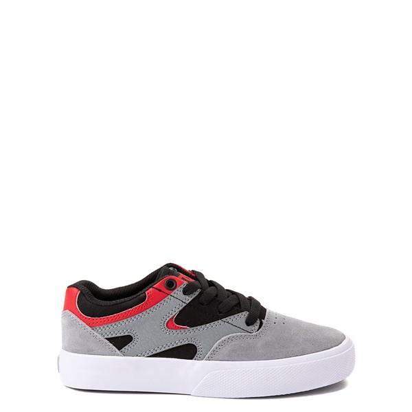 Main view of DC Kalis Vulc Skate Shoe - Little Kid / Big Kid - Gray / Black / Red
