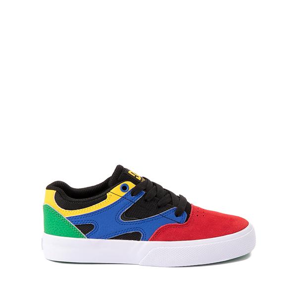 Main view of DC Kalis Vulc Skate Shoe - Little Kid / Big Kid - Black / Multicolor