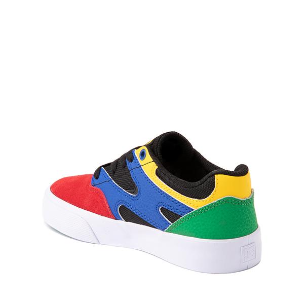alternate view DC Kalis Vulc Skate Shoe - Little Kid / Big Kid - Black / MulticolorALT1