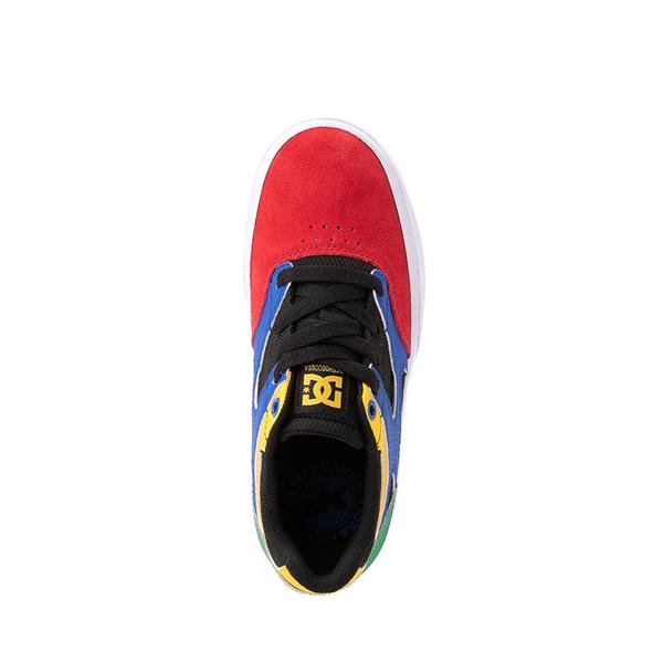 alternate view DC Kalis Vulc Skate Shoe - Little Kid / Big Kid - Black / MulticolorALT2