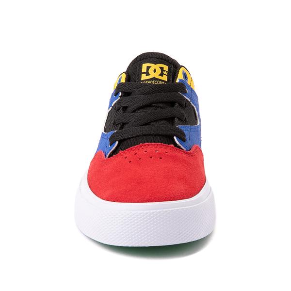 alternate view DC Kalis Vulc Skate Shoe - Little Kid / Big Kid - Black / MulticolorALT4