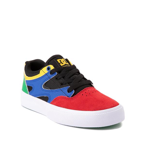 alternate view DC Kalis Vulc Skate Shoe - Little Kid / Big Kid - Black / MulticolorALT5