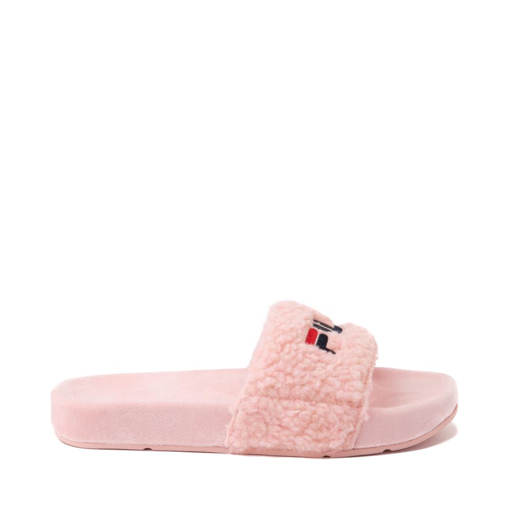 Womens Fila Fuzzy Drifter Slide Sandal - Pink