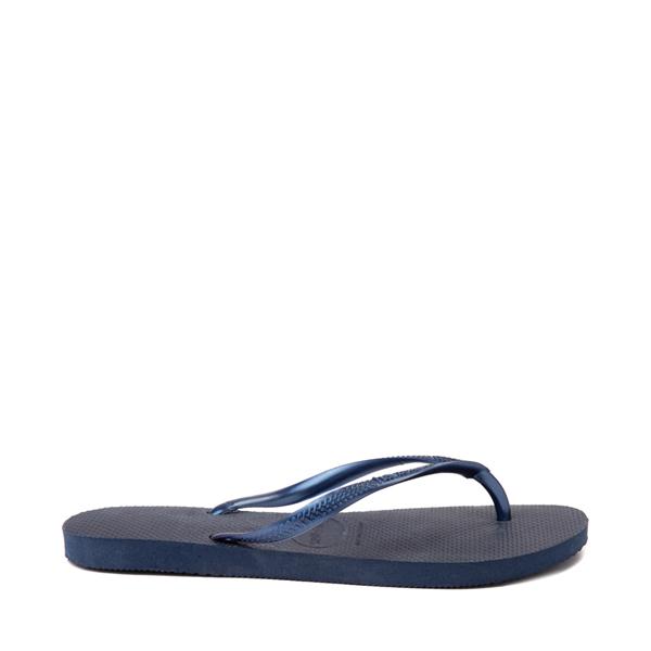 alternate view Womens Havaianas Slim Sandal - NavyALT1