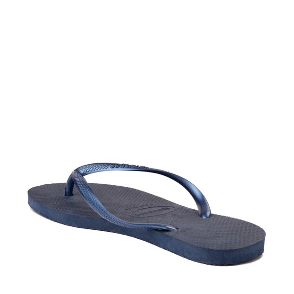alternate view Womens Havaianas Slim Sandal - NavyALT1B