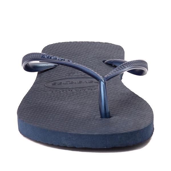 alternate view Womens Havaianas Slim Sandal - NavyALT4