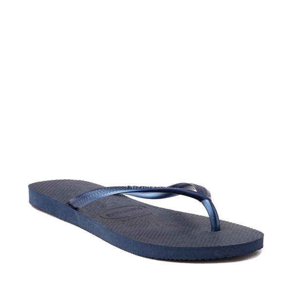 alternate view Womens Havaianas Slim Sandal - NavyALT5