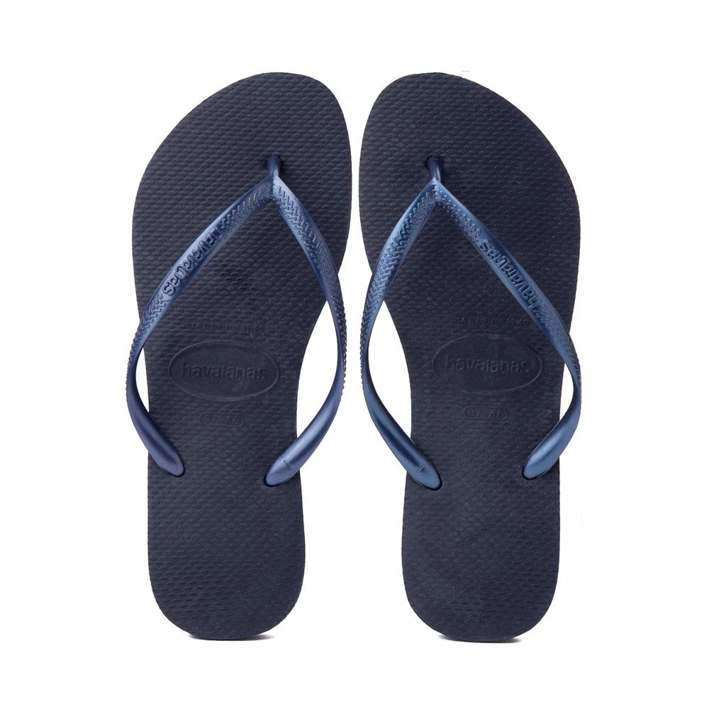 Womens Havaianas Slim Sandal - Navy